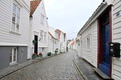 Stavanger-Straße Lizenzfreie Stockfotografie