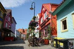 stavanger streets Royalty Free Stock Photography