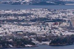 Stavanger van Lifjell wordt gezien die royalty-vrije stock fotografie
