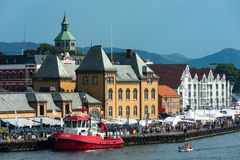 Stavanger vid havet arkivfoto