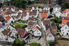 Stavanger vieja - visión Foto de archivo