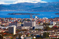 Stavanger view above Stock Photo