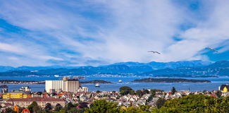 Stavanger. View of the cityscape of Stavanger in Norway Royalty Free Stock Photos