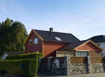 Stavanger Wood House. Typical architecture or norweigan style Stock Image