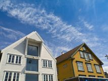 Stavanger Wood House. Typical architecture or norweigan style Royalty Free Stock Photography