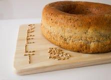 Stavat bröd med korn av stavad II Arkivbilder