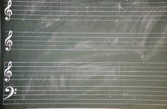 Stave blackboard royalty free stock photo