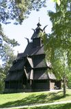 Stave Church. Stavkirke (stave church) located at the folk museum in Oslo, Norway.  The Norwegian Stave Churches are some of the oldest wooden structures in the Stock Images