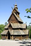 Stave Church. Stavkirke (stave church) located at the folk museum in Oslo, Norway.  The Norwegian Stave Churches are some of the oldest wooden structures in the Royalty Free Stock Photography