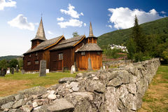 Stave Church. A stavechurch - stavkirke - in Norway located at Hol built in the 13th century Royalty Free Stock Photos