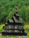 Stave Church in Borgund, Norway. BORGUND, NORWAY - AUGUST 12: The Borgund Stave Church on August 12, 2008 in Borgund, Norway. The Borgund Stave Church is the Royalty Free Stock Images