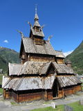 Stave church in Borgund, Norway Royalty Free Stock Photography