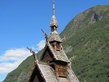 Stave church in Borgund, Norway Royalty Free Stock Images