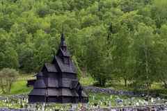 Stave Church of Borgund. The old stave church of Borgund at the historic route in Norway Stock Photography