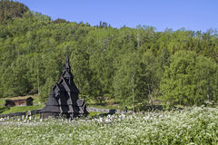 Stave church Borgund Stock Photography