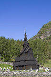 Stave church Borgund Stock Image