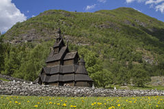 Stave church Borgund Stock Images