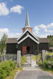 The Stave Church at  Flesberg Stock Photo