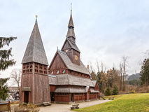 Stave church at Hahneklee, Harz region Royalty Free Stock Images