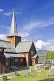 Stave Church Hedalen imágenes de archivo libres de regalías