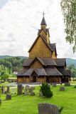 Stave Church Heddal Norway imagenes de archivo