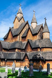 Stave Church Heddal, Norway Stock Photo