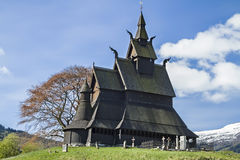 Stave Church Hopperstad Stock Photo