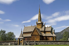 Stave church Lom Stock Image