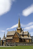Stave church Lom Royalty Free Stock Images