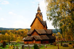 Stave church, Norway Royalty Free Stock Images