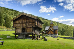 Stave church in Norway Royalty Free Stock Images
