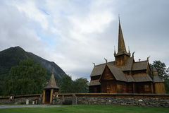 Stave Church in Norway Royalty Free Stock Photo