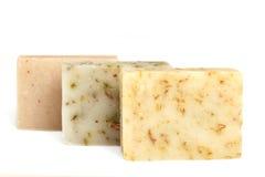 Staven van natuurlijke zeep Stock Foto