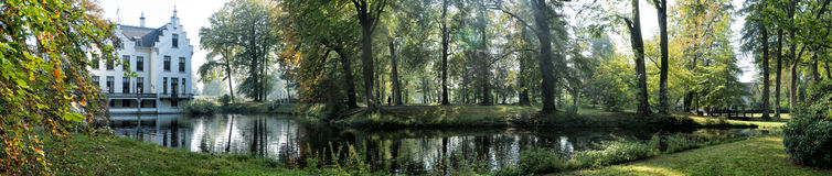 Staverden panorama Arkivfoto