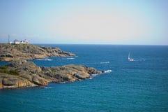 Stavern lighthouse Royalty Free Stock Photo