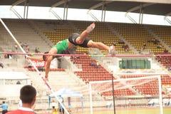 Stavhopp i Thailand den öppna idrotts- mästerskapet 2013. Royaltyfria Foton