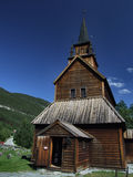 Stavkirke. Kaupanger Stavkirke. A wooden church typical for Norway. Historical ecclesiastic architecture Royalty Free Stock Image