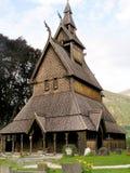 Stavkirke in Norwegen Stockbilder