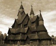 Stavkyrkje de Heddal Fotografía de archivo libre de regalías