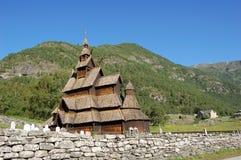 Stavkyrkje di Borgund Fotografia Stock
