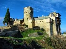 Stavronikita kloster på Mt Athos Royaltyfria Bilder