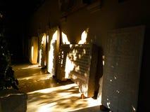 Stavropoleos修道院教会在布加勒斯特,罗马尼亚 库存图片