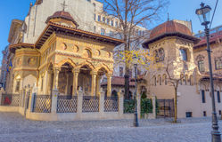Εκκλησία Stavropoleos, Βουκουρέστι, Ρουμανία Στοκ Εικόνες