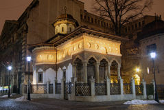 Stavropoleos Church, old town Bucharest Royalty Free Stock Photo