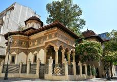 Stavropoleos-Kloster in Lipscani, alte Stadt von Bukarest Stockfotografie