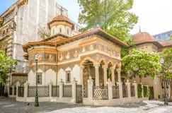 Stavropoleos kristen ortodox kyrka och kloster fotografering för bildbyråer