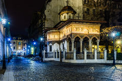 Stavropoleos kyrka royaltyfri foto
