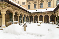 Stavropoleos Monastery In Bucharest During Winter Royalty Free Stock Photos