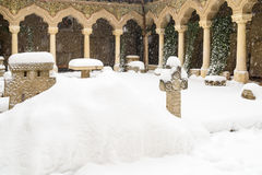 Stavropoleos Monastery In Bucharest During Winter Royalty Free Stock Photo