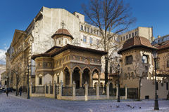 Stavropoleos Monastery in the old town area of Bucharest Stock Photo